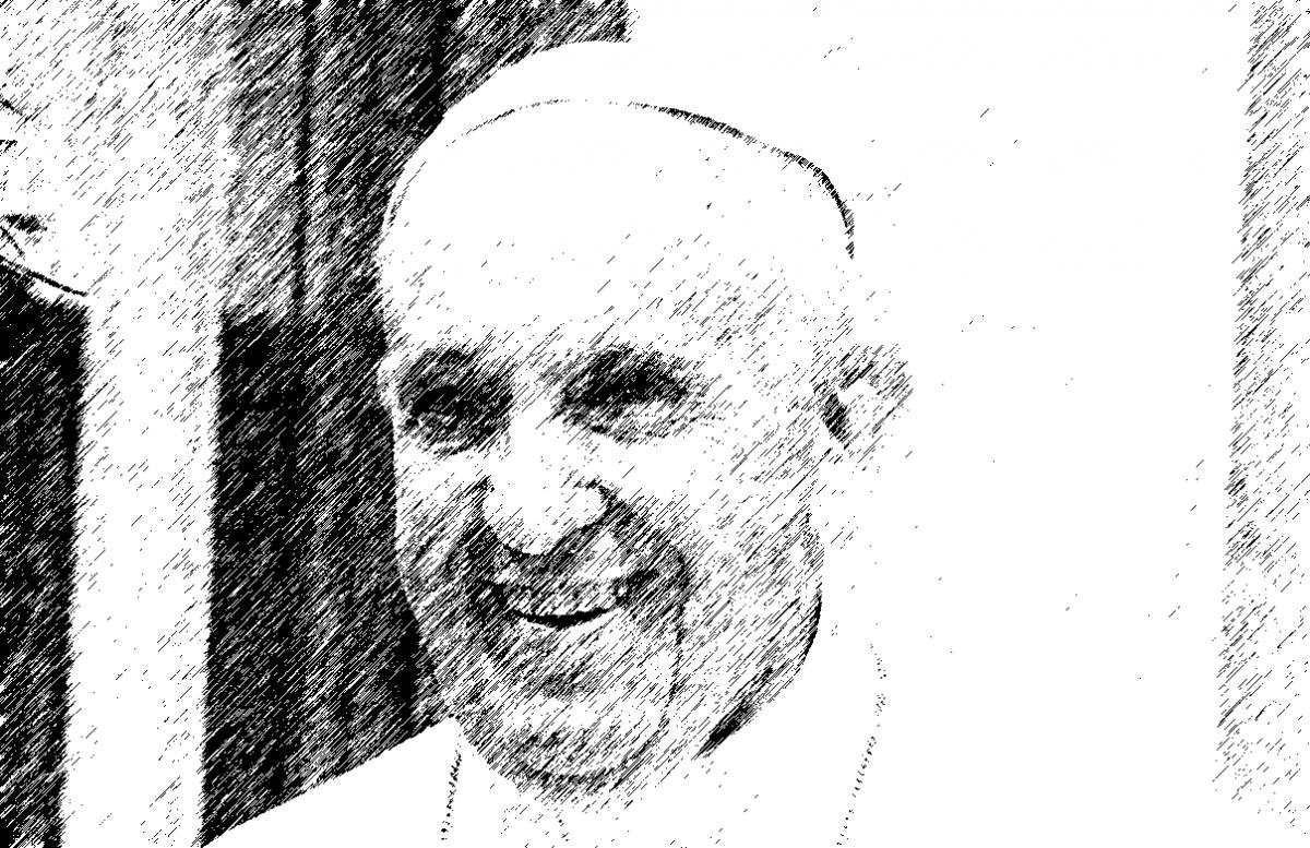 Corona und Kirchenoberhaupt der katholischen Kirche Papst