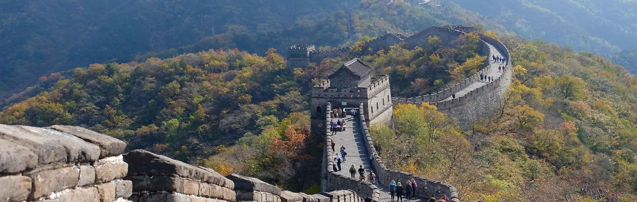 chinesische Mauer im Frühjahr