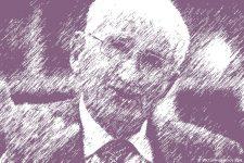 Zeichnung Soziologe Habermas aus Deutschland