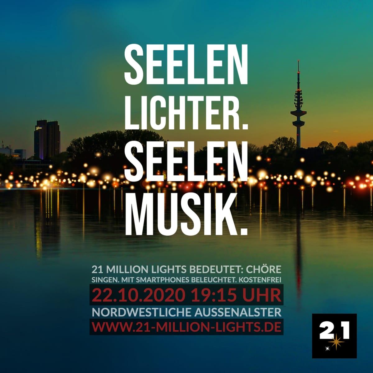 21 Million Lights-Hamburg-Außenalster-Nacht