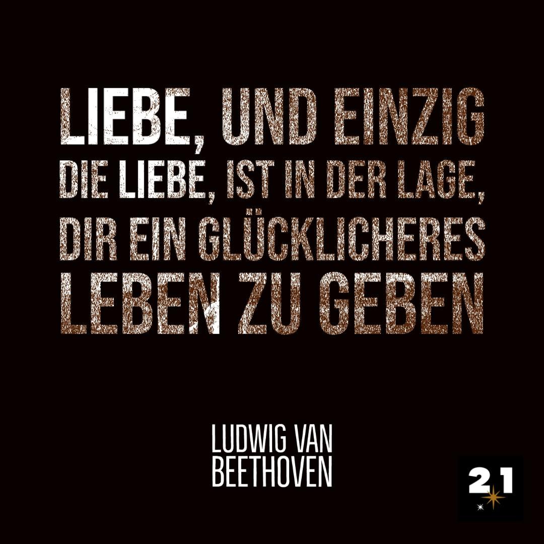 Beethoven-Glück-Post-Zitat-Zeichnung