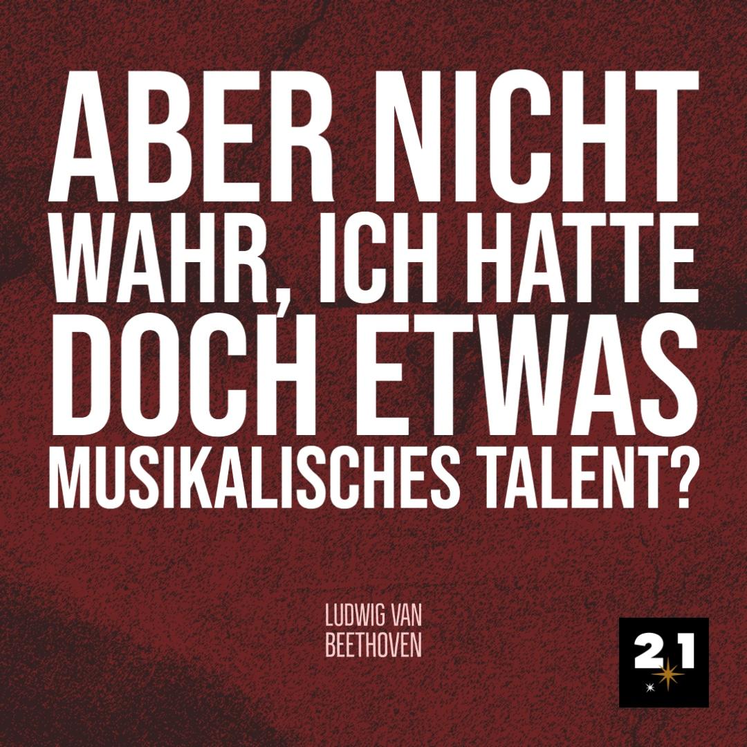 Beethoven-Post-Zitat-Zeichnung