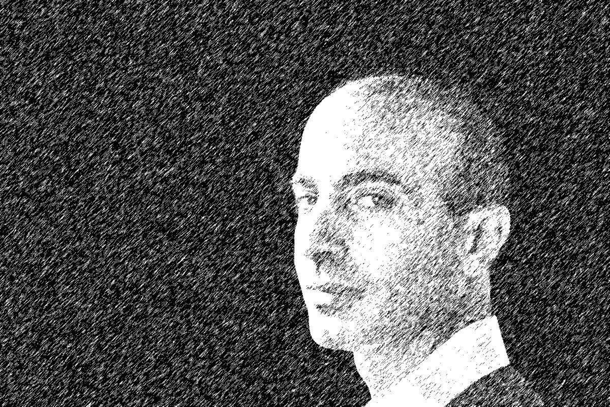 Historiker Yuval Noah Harari als Zeichnung
