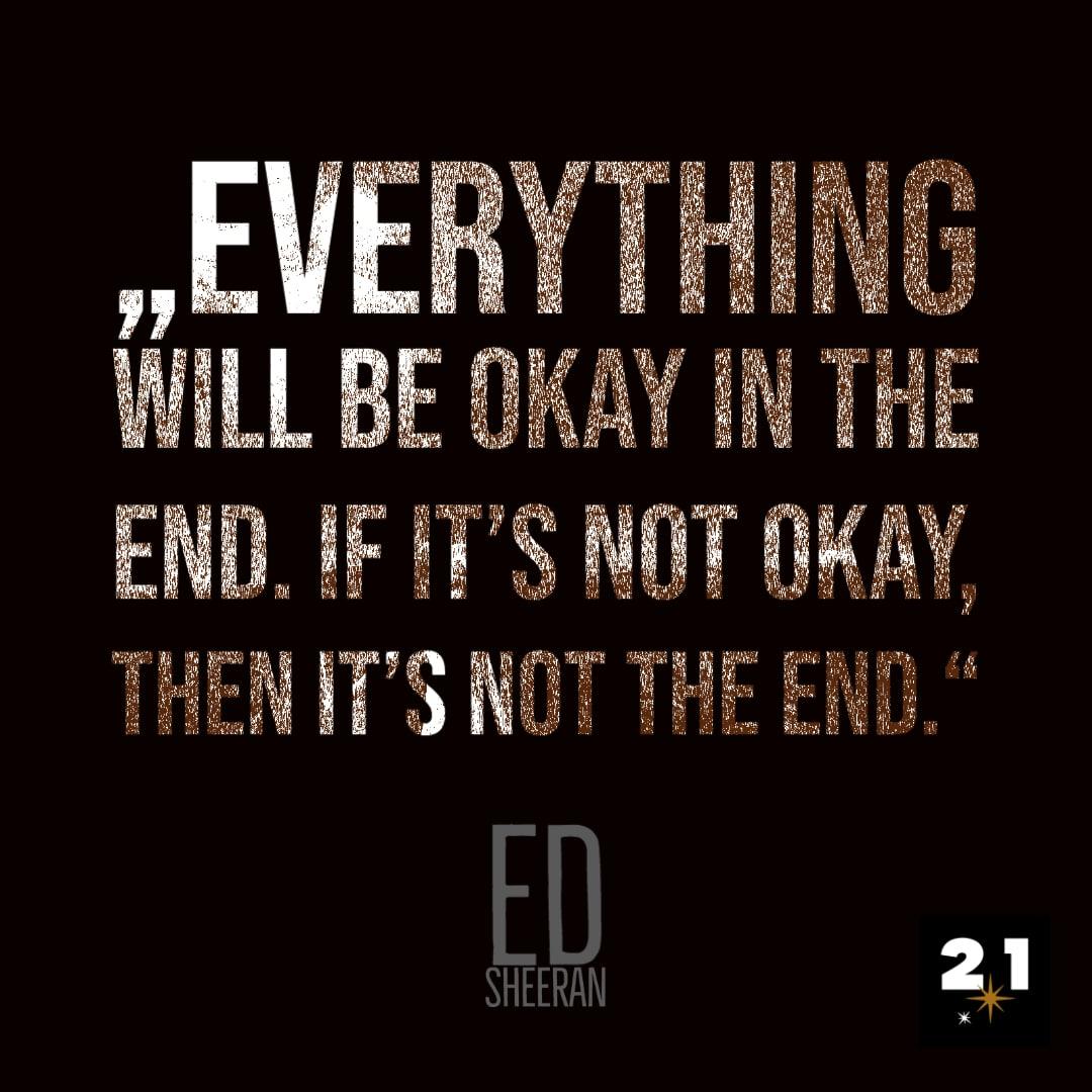 Ed Sheeran-Post-Zitat-Zeichnung