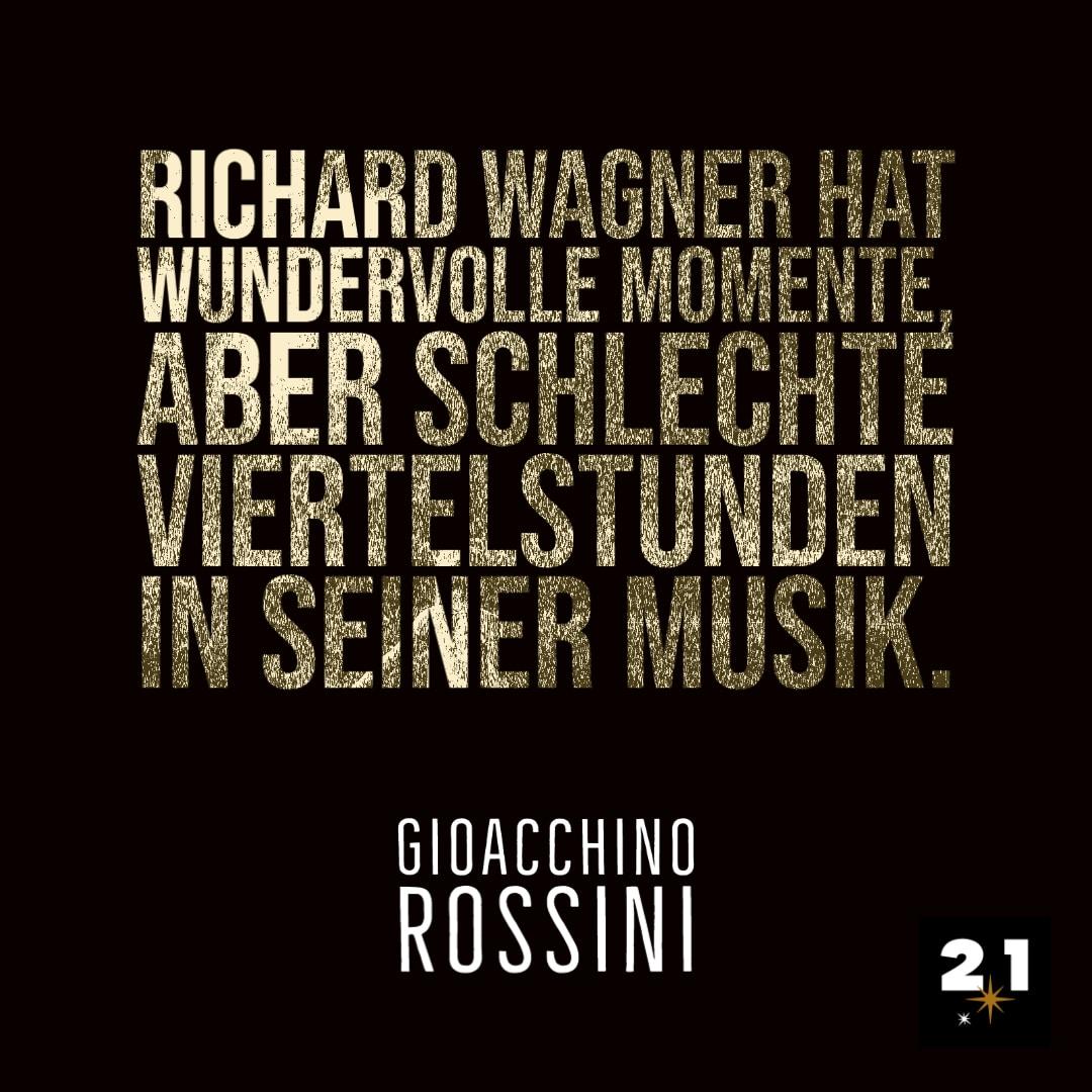 Rossini spricht über Wagner