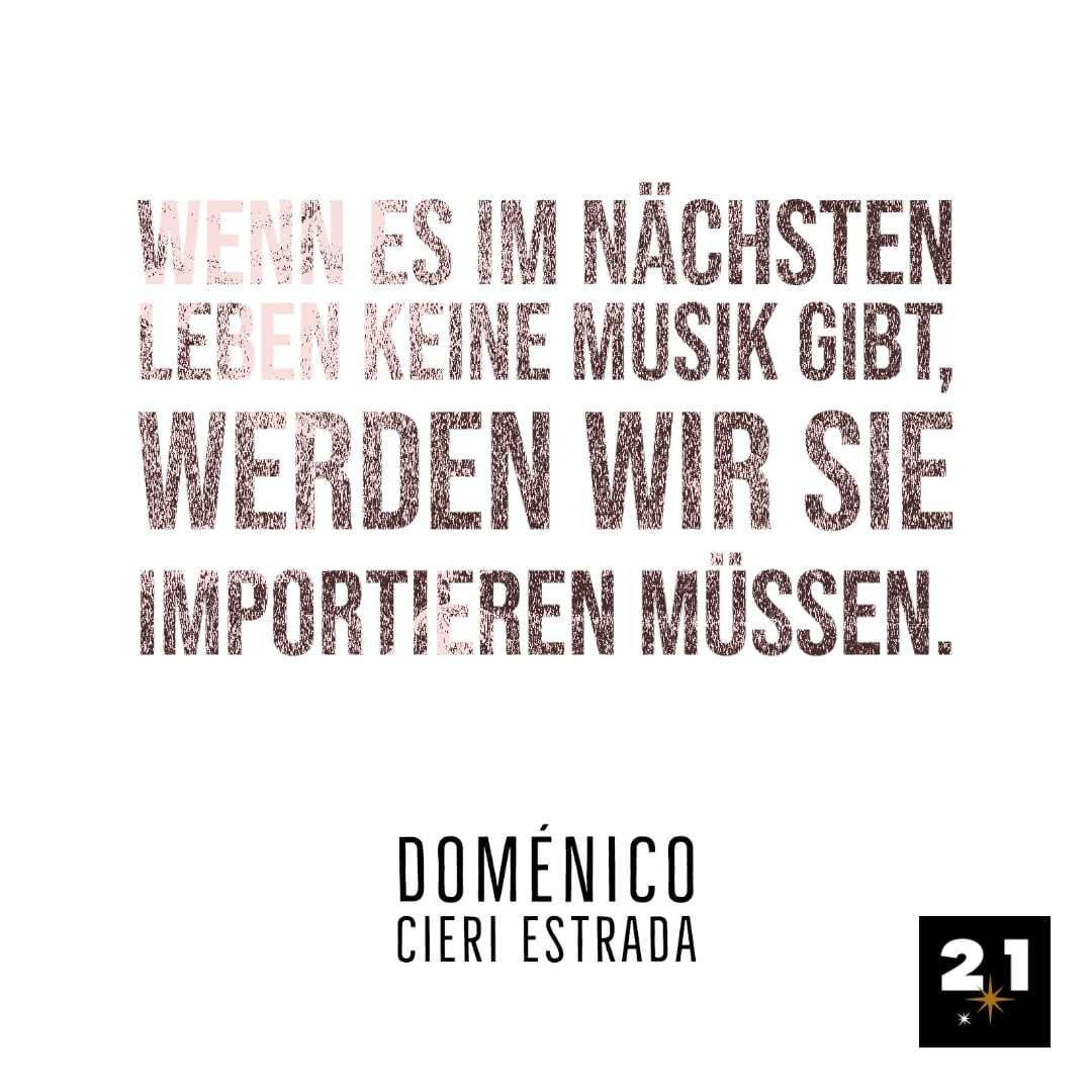 Doménico Cieri Estrada über Musik