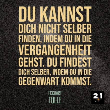 Eckhart Tolle & Vergangenheit