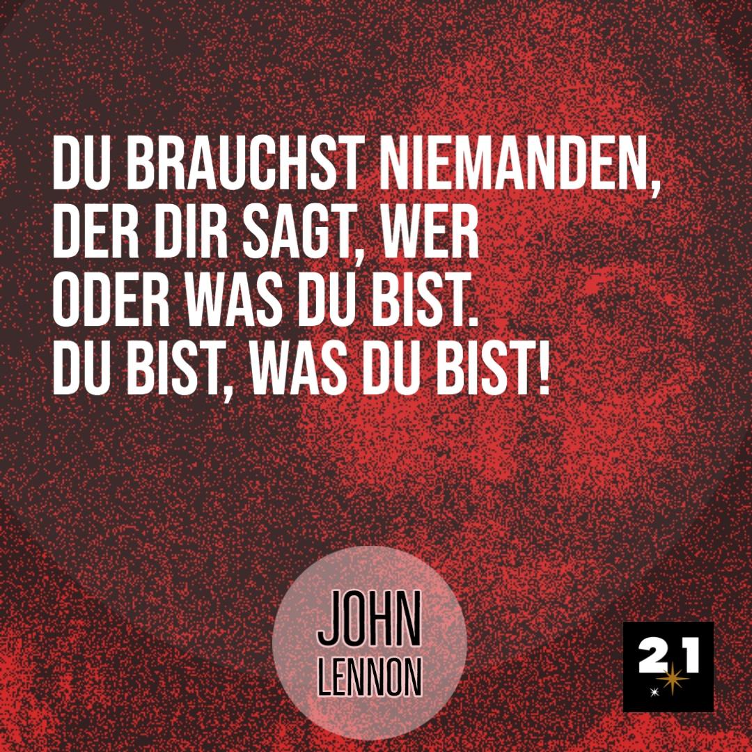 John Lennon und Du. Oder warum in den Spiegel schauen manchmal hilft,