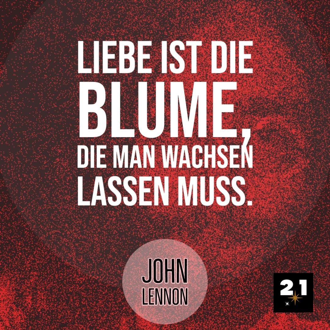 John Lennon & Blumen