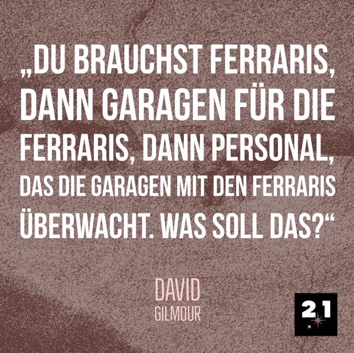David Gilmour über Reichtum