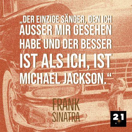 Sinatra spricht über Michael Jackson