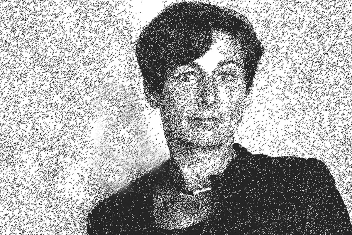 Schriftstellerin, Autorin Juli Zeh als Zeichnung, Schwarzweiß