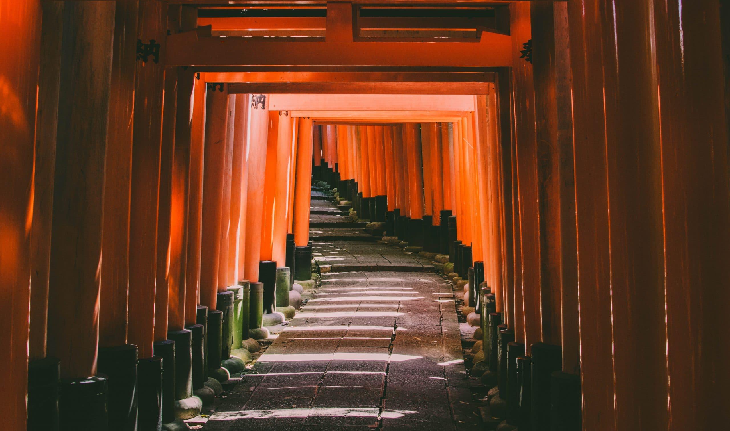 Tunnel aus Japan, aus Holz gebaut