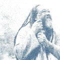 Advaita Vedanta Lehrer Mooji –als Zeichnung
